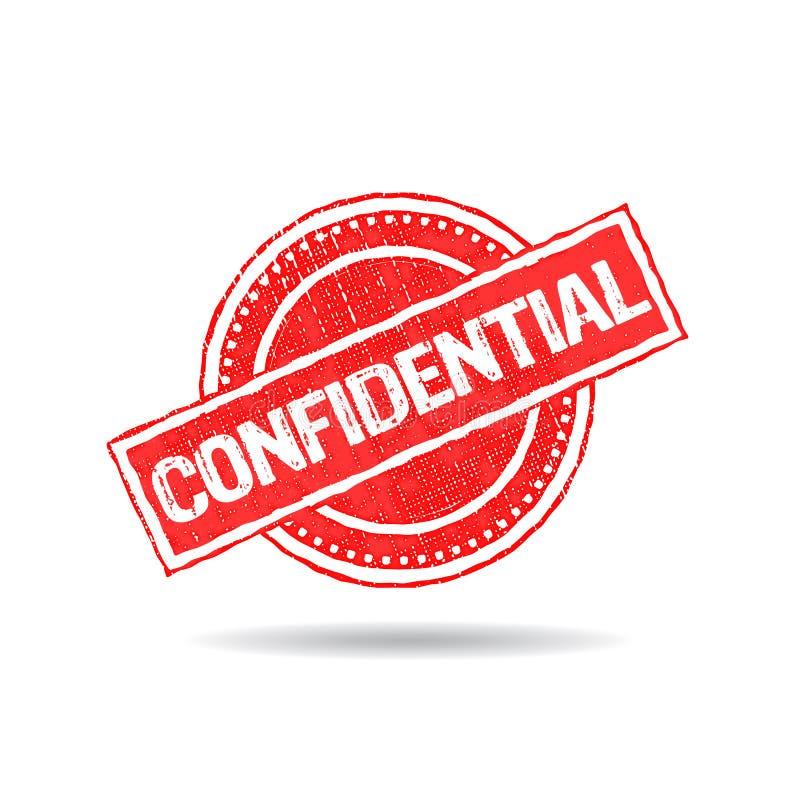 Vertrauliches Stempel-Schmutz-Logo lizenzfreie abbildung