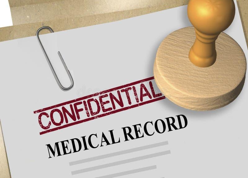 Vertraulichkeit des Krankenblattkonzeptes lizenzfreies stockbild