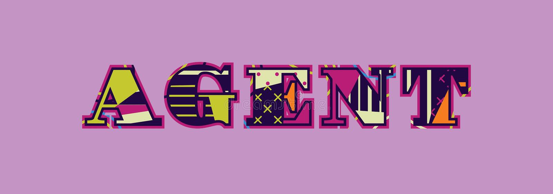 Vertreter Concept Word Art Illustration stock abbildung