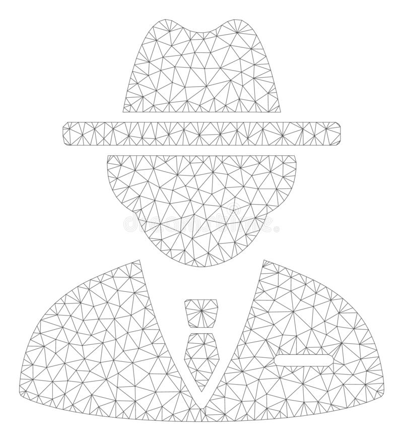 Vertreter Polygonal Frame Vector Mesh Illustration stock abbildung