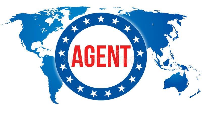 Vertreterwahl auf einem Welthintergrund, Wiedergabe 3D Weltlandkarte als Konzept des politischen Hintergrundes Abstimmung, Freihe vektor abbildung