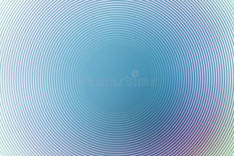 Vertroebelt de gradi?nt radiale achtergrond, blauwe hemel, de vlotte zachte samenvatting van het textuurbehang Ontwerpgloed royalty-vrije illustratie