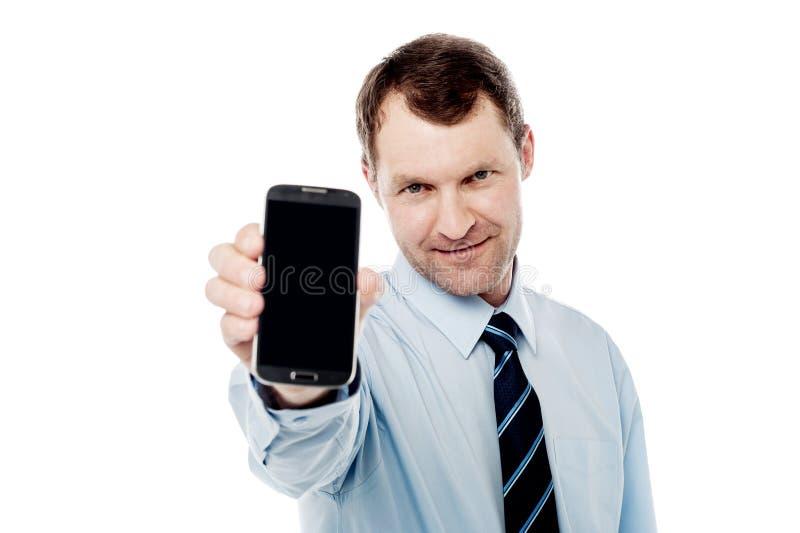 Vertrouwdste mobiel in markt stock fotografie