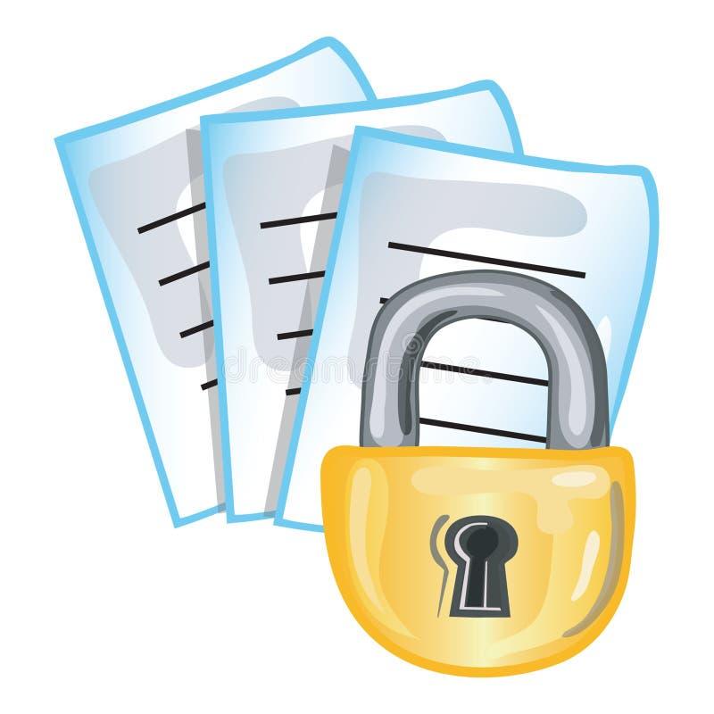 Vertrouwelijk documenten pictogram vector illustratie