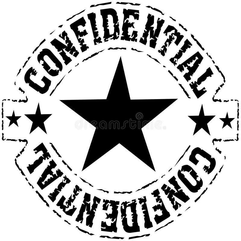 Vertrouwelijk - grungy zwarte inktzegel vector illustratie