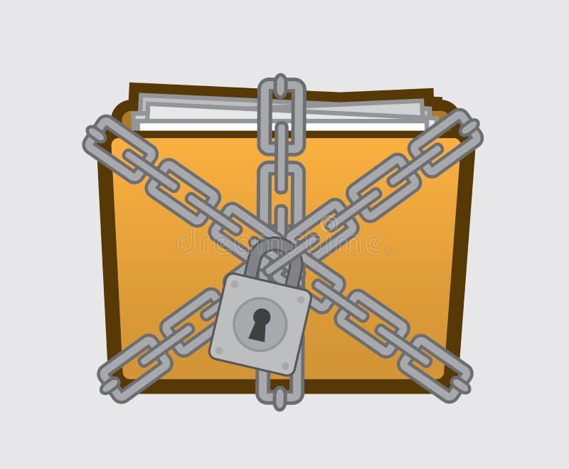 Vertrouwelijke Omslag vector illustratie