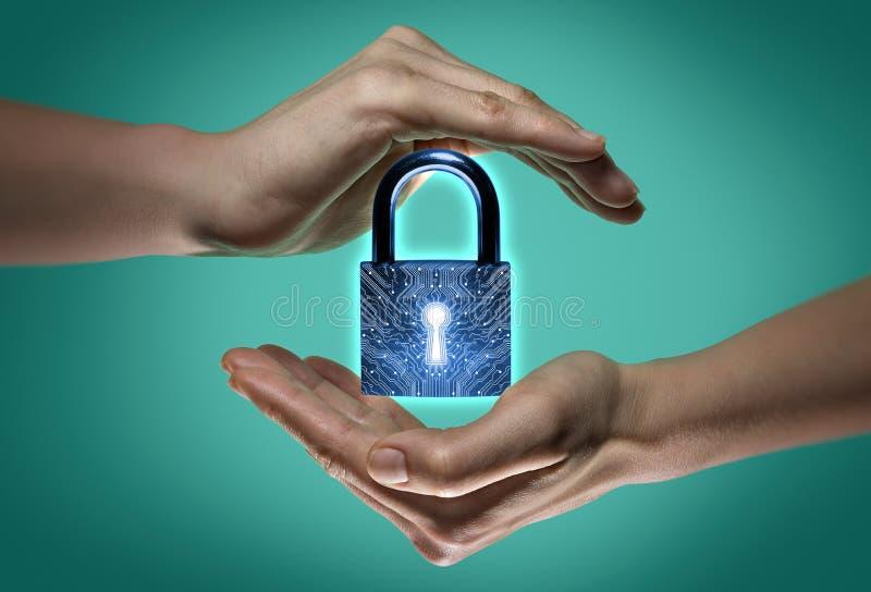 Vertrouwelijkheid, gegevensbescherming en veiligheid stock afbeeldingen