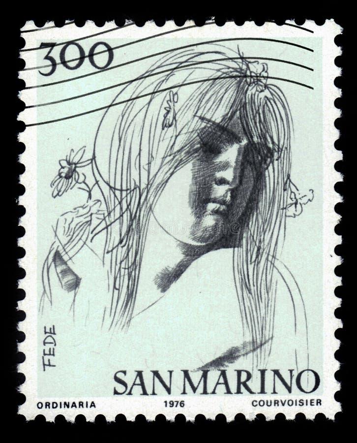 Vertus civiques par le sculpteur et l'Emilio Greco italiens images stock
