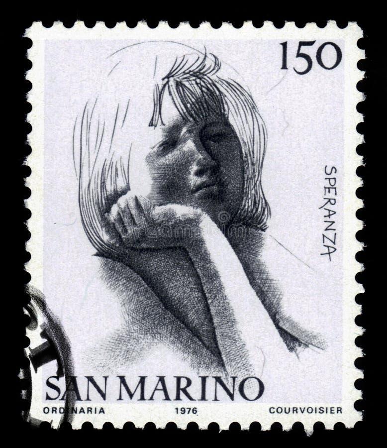 Vertus civiques par le sculpteur et l'Emilio Greco italiens images libres de droits