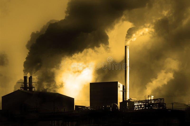 Verunreinigung in der Luft stockfoto
