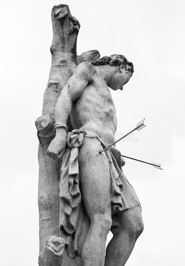 Verurteilt zum Tod - Statue stockbild