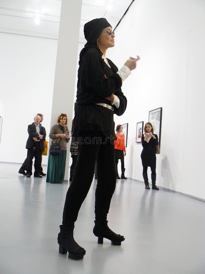 Download Veruschka (Vera Lehndorff) In Moscow Editorial Stock Image - Image: 30505154