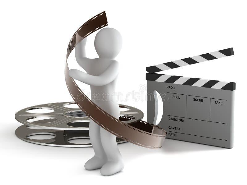Vervaardiging van de film stock illustratie