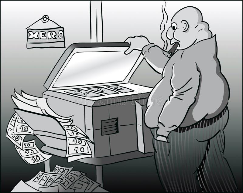 Vervalst geld royalty-vrije illustratie