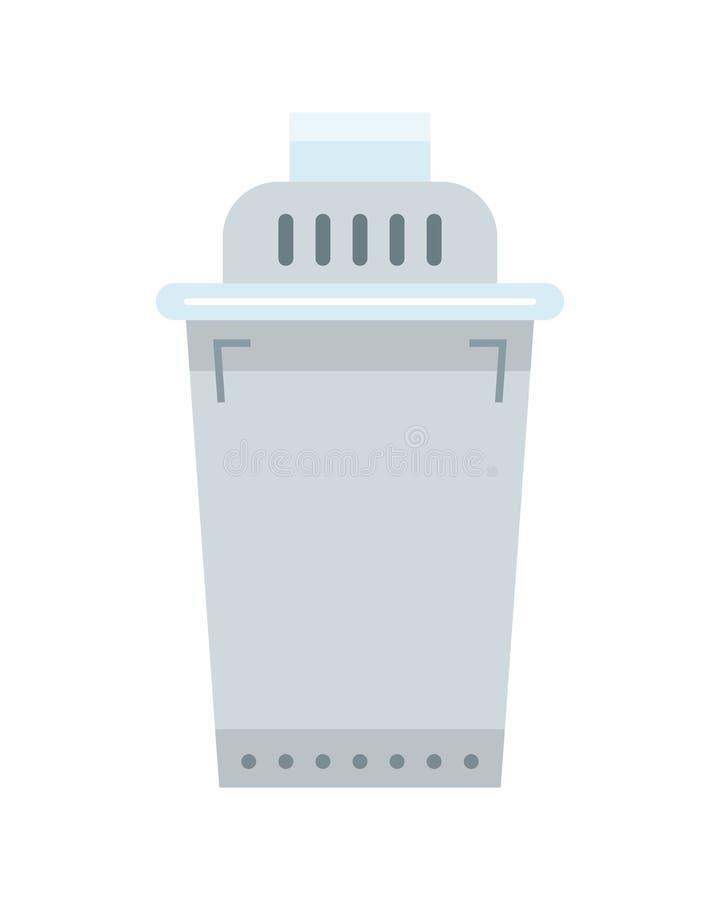 Vervangbare waterfilter Vlak pictogram Schoonmakende apparatuur royalty-vrije illustratie