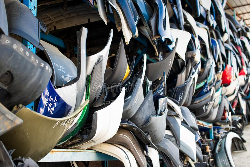 Vervangstukken auto's van het auto slopen royalty-vrije stock foto