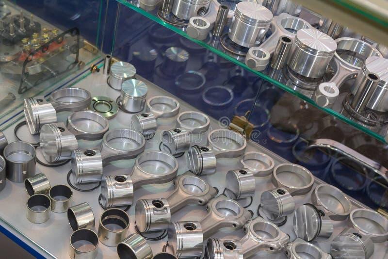 Vervangstukken voor het motorclose-up stock afbeelding