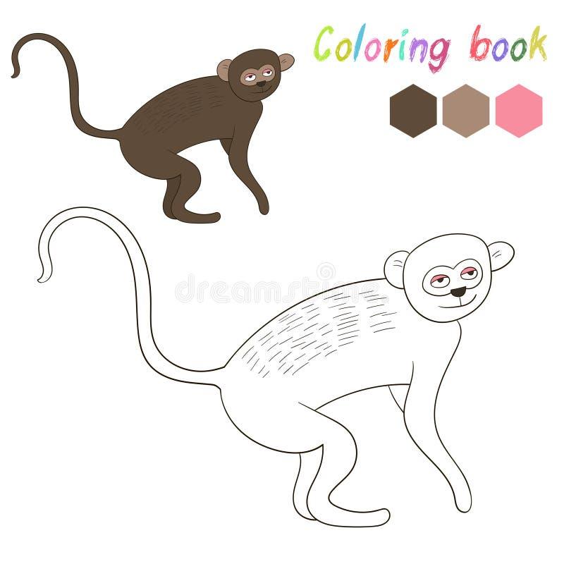 Vervet книжка-раскраски ягнится план для игры иллюстрация штока