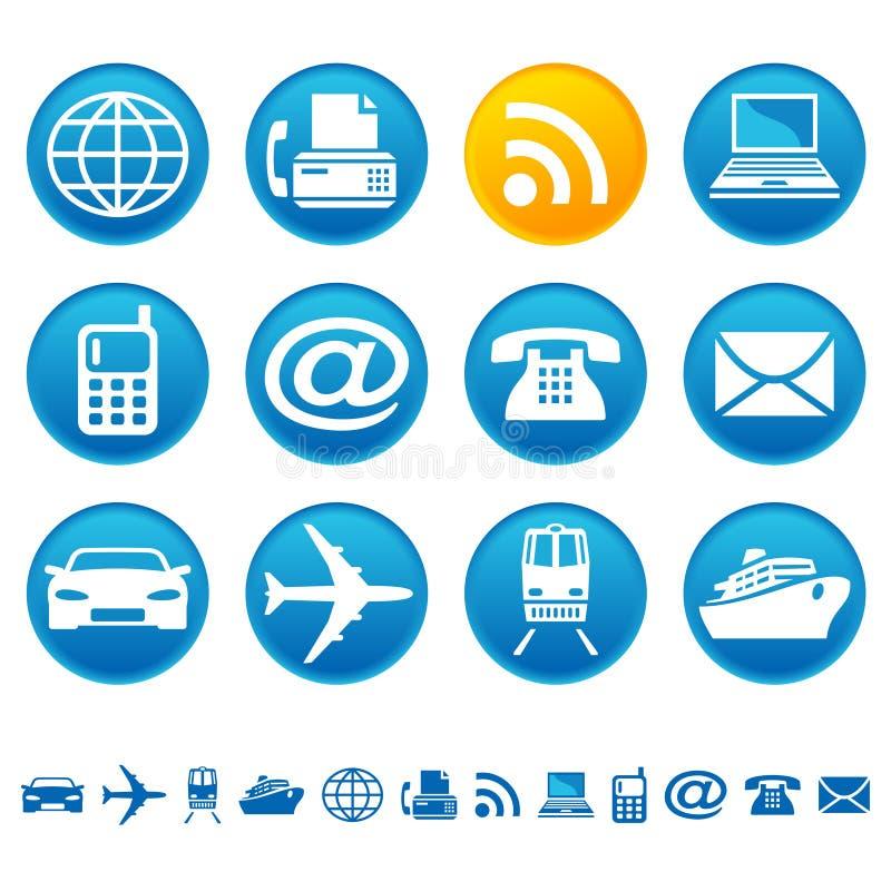 Vervoer & telecommunicatie royalty-vrije illustratie