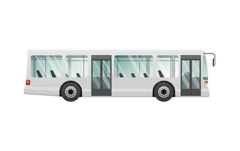vervoer Beeld van Geïsoleerde Stedelijke Openbare Bus stock illustratie