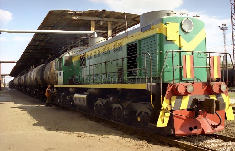 Vervoer, Diesel locomotief stock foto's