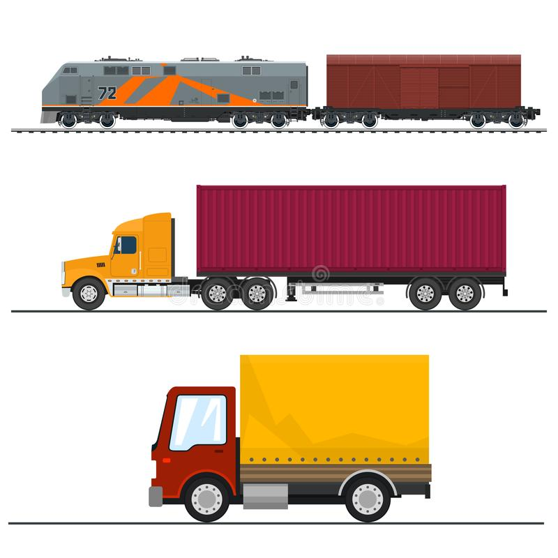 Vervoer en Ladings de Diensten royalty-vrije illustratie