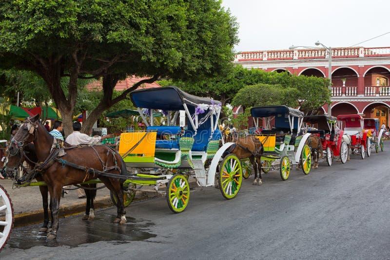 Vervoer in Granada Nicaragua royalty-vrije stock foto's