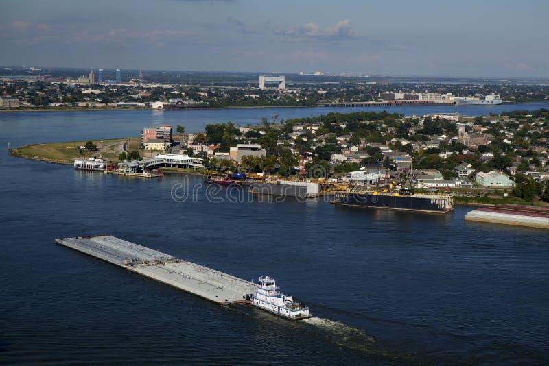 Vervoer: Het verschepen op de Rivier van de Mississippi stock fotografie