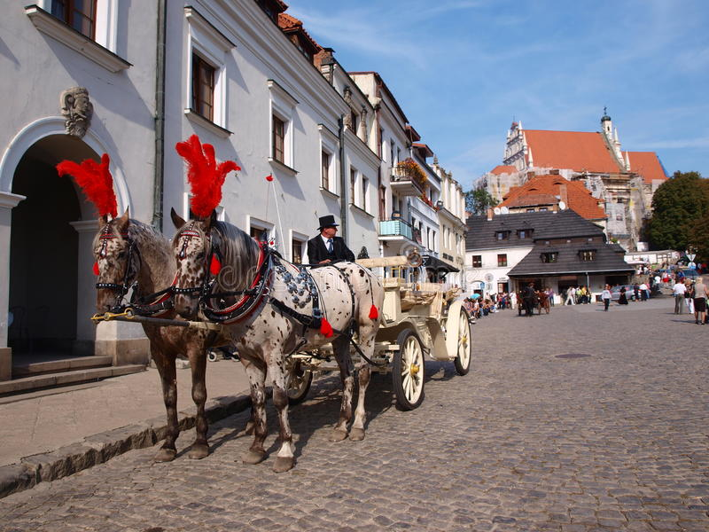 Vervoer, Kazimierz Dolny, Polen stock afbeeldingen