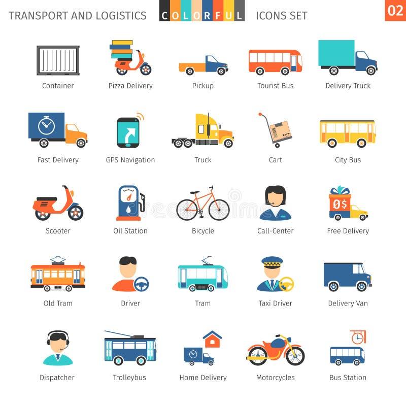 Vervoer Kleurrijke Reeks 02 vector illustratie