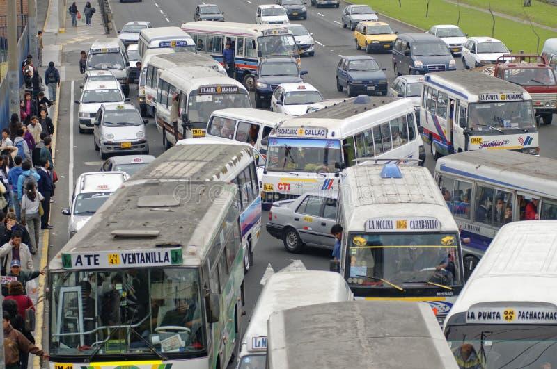 Vervoer in Lima royalty-vrije stock afbeelding