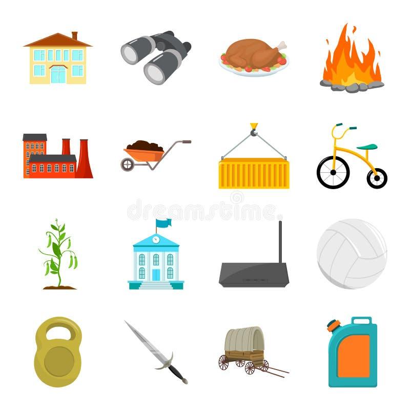 Vervoer, toerisme, geschiktheid en ander Webpictogram in beeldverhaalstijl Olie, onderwijs, sportenpictogrammen in vastgestelde i royalty-vrije illustratie