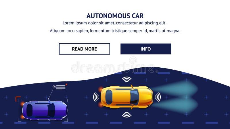 Vervoer van de Autonomusauto Vlakke vectorillustratie vector illustratie