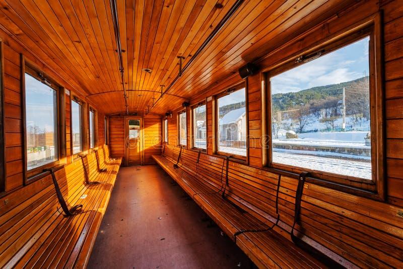 Vervoer van de luxe het oude trein royalty-vrije stock afbeeldingen