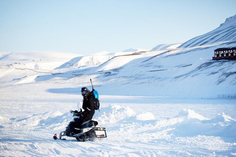 Vervoer van de sneeuwscooter royalty-vrije stock foto's