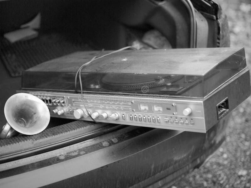 Vervoer van retro vinylspeler royalty-vrije stock foto's