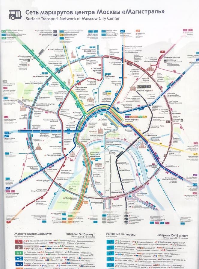 Vervoerkaart in Moskou royalty-vrije stock afbeeldingen