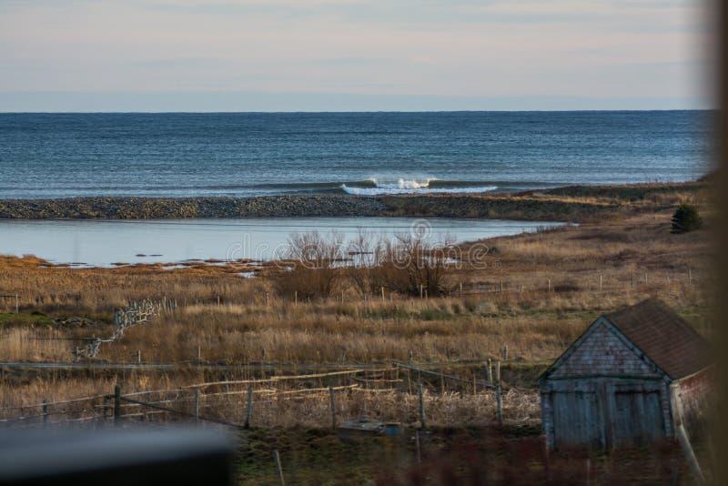 Vervollkommnen Sie Welle an einem sonnigen Tag mit Vordergrundhintergrund bohkeh lizenzfreie stockbilder