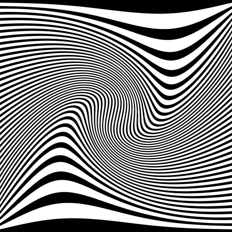 Vervormd abstract zwart-wit patroon van asymmetrisch/onregelmatig vector illustratie