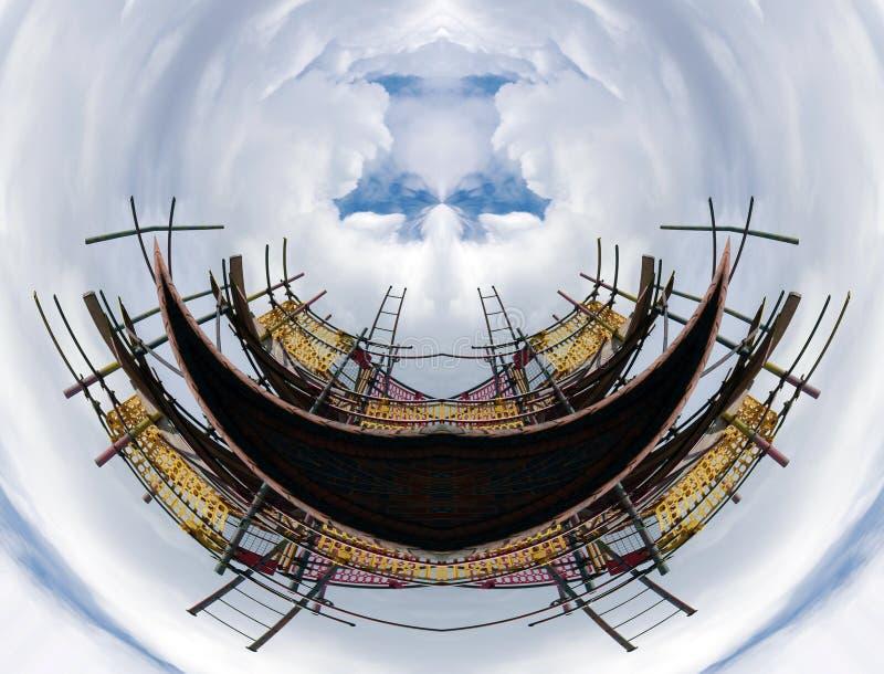 Vervormde bouwerssteiger vector illustratie