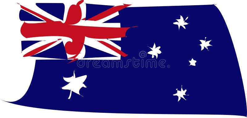 Vervormde de vlag van Australië royalty-vrije stock afbeelding
