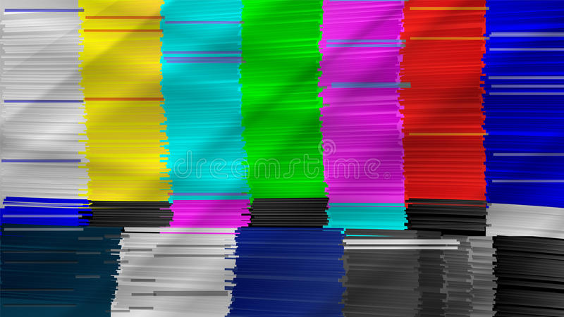 Vervormde glitch TV Digilal Geen signaal Glitch Art Show Static Error Vector abstracte achtergrond royalty-vrije illustratie