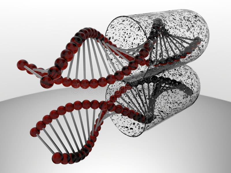 Vervuilde DNA-bundelcapsule royalty-vrije illustratie