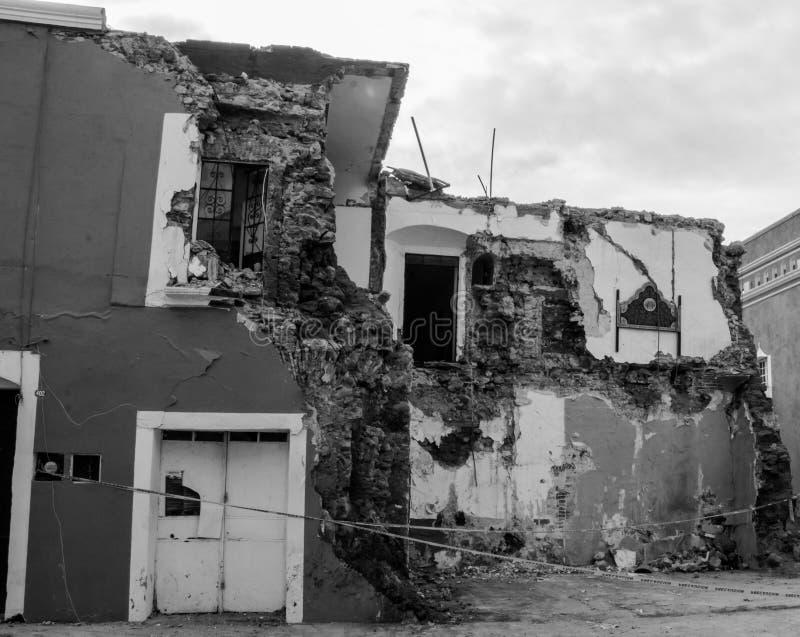 Verwüstung in Mexiko stockbilder
