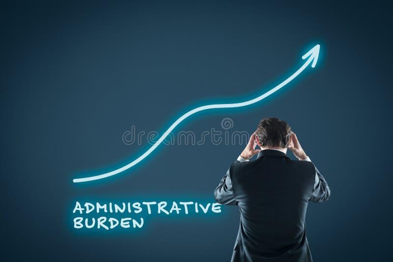 Verwaltungsbelastungswachstum stockbild