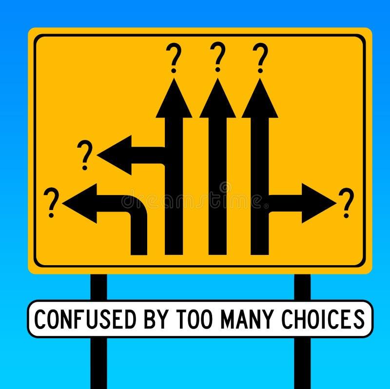 Verward door keuzen stock illustratie