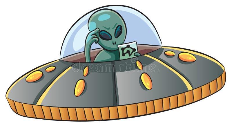 Verward UFO royalty-vrije stock foto
