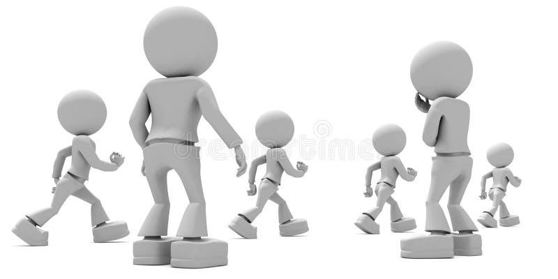 Verwarde Ouders vector illustratie