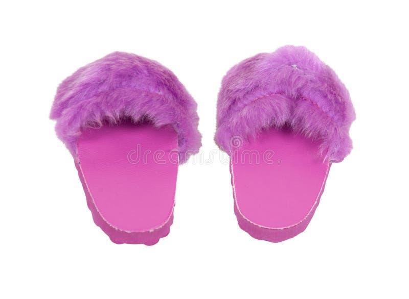 Verwarde Roze Pantoffels stock foto