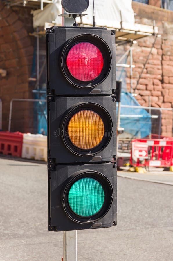 Verwarde Verkeerslichten stock fotografie